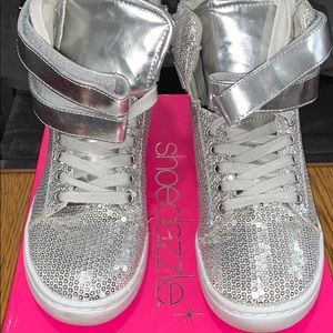 Silver Sequence Sneakers
